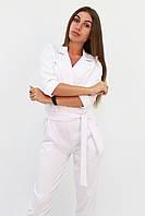 S, M, L / Стильний жіночий комбінезон Noris, білий