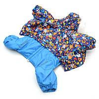 Комбинезон для собак Звездочка синий №0 25х40 см, фото 1