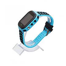 Детские Смарт Часы T18 GPS с сенсорным экраном Цвет Синий (гарантия 6 мес.) + Подарок конструктор, фото 3