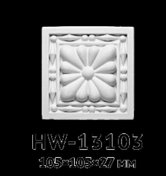 Квадрат Classic Home HW-13103, лепной декор из полиуретана