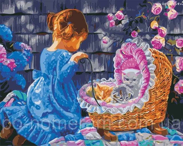 Картина по номерам Дочки-матери в детскую