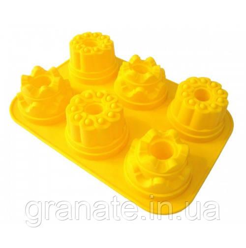 Силиконовая форма для выпечки Кексы 32,5х23х6см (Д- 9х6 см)