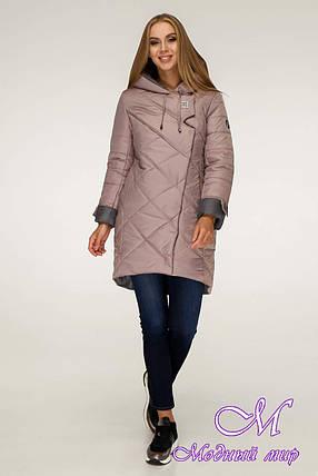 Молодежная зимняя куртка женская (р. 42-52) арт. 1201 Тон 2, фото 2
