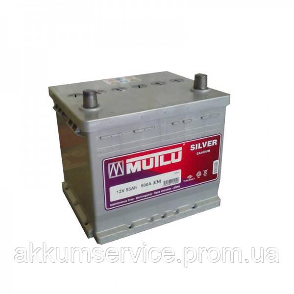 Акумулятор автомобільний Mutlu Asia Silver 55AH R+ 480A (D20.55.045.C)