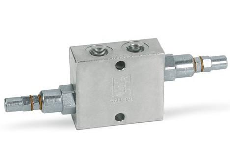 """Подвійний поперечний запобіжний клапан Hydro-pack VAU 3/8 """" V0440"""