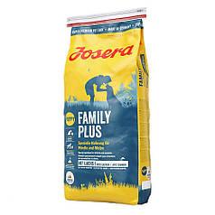 Сухий корм Josera Family Plus (для цуценят, вагітних і годуючих собак, птах+лосось) 15 кг