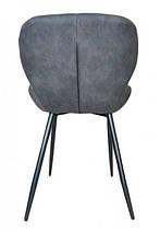 Стул Дайм, мягкий, ножки металл, цвет серый, фото 3