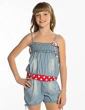 Детский джинсовый комбинезон для девочки Krytik Италия 79478 / KR / 00A Голубой