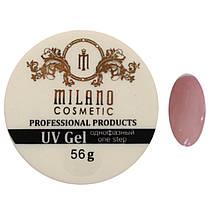 Гель для наращивания Milano однофазный (yellowish) 56g