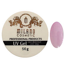 Гель для наращивания Milano однофазный (pink) 56g