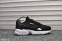 Кроссовки женские Adidas Falcon Black White. ТОП КАЧЕСТВО !!! Реплика, фото 1