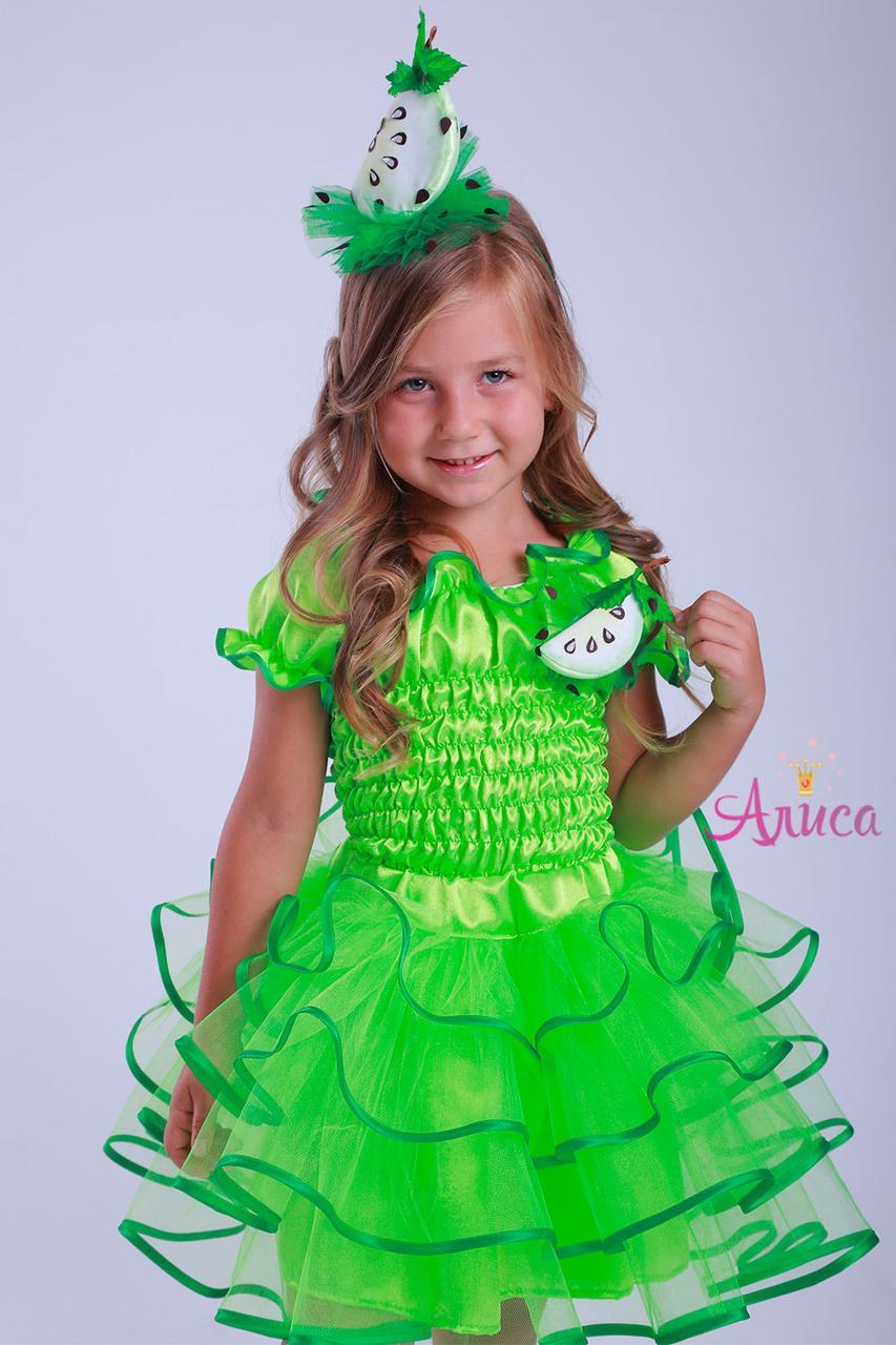 Карнавальный костюм зеленое Яблоко для девочки