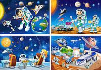Пазлы Mini Космос 4 вида на 54 элемента Сastorland