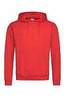Спортивная мужская худи с капюшоном красного цвета, фото 1