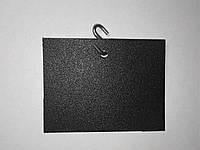 Ценник подвесной 10х10 см s-образным крючком меловой. Грифельная табличка. Для мела и мелового маркера