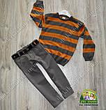 Комплект для мальчика 1-2 года: куртка+пуловер вязанный+брюки, фото 3