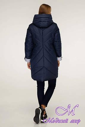 Женская стильная зимняя куртка (р. 42-52) арт. 1201 Тон 18, фото 2