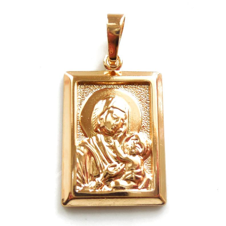 Иконка Xuping Божья матерь с младенцем длина 3.3см л221