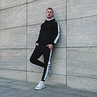 Спортивный мужской костюм демисезонный. Мужская олимпийка на молнии+штаны с лампасами., фото 1