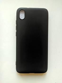 Силиконовый чехол Xiaomi Redmi 7A матовый черній