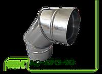Отвод 90 градусов для круглых воздуховодов AD-KPO-90