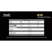 Фонарь Fenix E12 Cree XP-E2 LED, фото 2