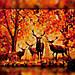 Алмазная вышивка The Wortex Diamonds Осенний пейзаж 30x40 (TWD20018), фото 2