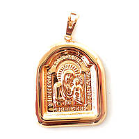 Иконка Xuping Казанская Пресвятая Богородица позолота 18К длина 3.8см л210