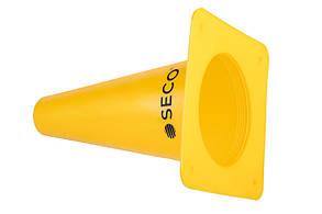 Тренировочный конус SECO 15 см цвет: желтый
