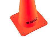 Тренировочный конус SECO 15 см цвет: оранжевый, фото 1