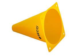 Тренировочный конус SECO 18 см цвет: желтый