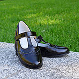 Туфли черные лаковые для девочек, фото 2