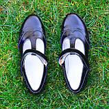 Туфли черные лаковые для девочек, фото 3