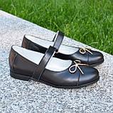 Туфли школьные для девочек из натуральной кожи, фото 2