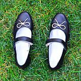 Туфли школьные для девочек из натуральной кожи, фото 4