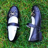 Туфли школьные для девочек из натуральной кожи, фото 5