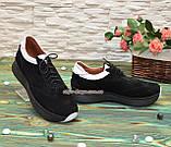 Кроссовки женские комбинированные на утолщенной подошве, цвет черный/белый, фото 3