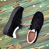 Кроссовки женские комбинированные на утолщенной подошве, цвет черный/белый, фото 4