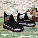 Ботинки замшевые женские демисезонные свободного обувания, фото 2
