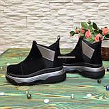 Ботинки замшевые женские демисезонные свободного обувания, фото 3