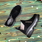 Ботинки замшевые женские демисезонные свободного обувания, фото 4