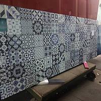 Стеклянная панель под плитку - установка на кухне в Запорожье 3