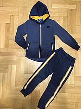Теплый костюм спортивный теплый с лампасам для мальчика.  Grace 82606