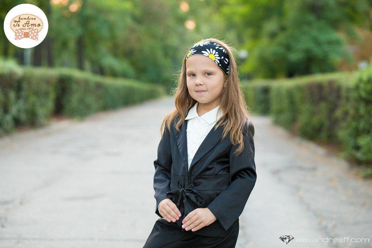 Школьный пиджак для девочки Школьная форма для девочек PINETTI. Италия 98561 Черный