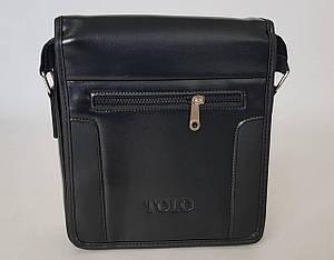 Мужская сумка планшетка через плечо черного цвета