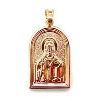 Ладанка Xuping иконка Иисус Христос позолота 18К длина 3.6см л223