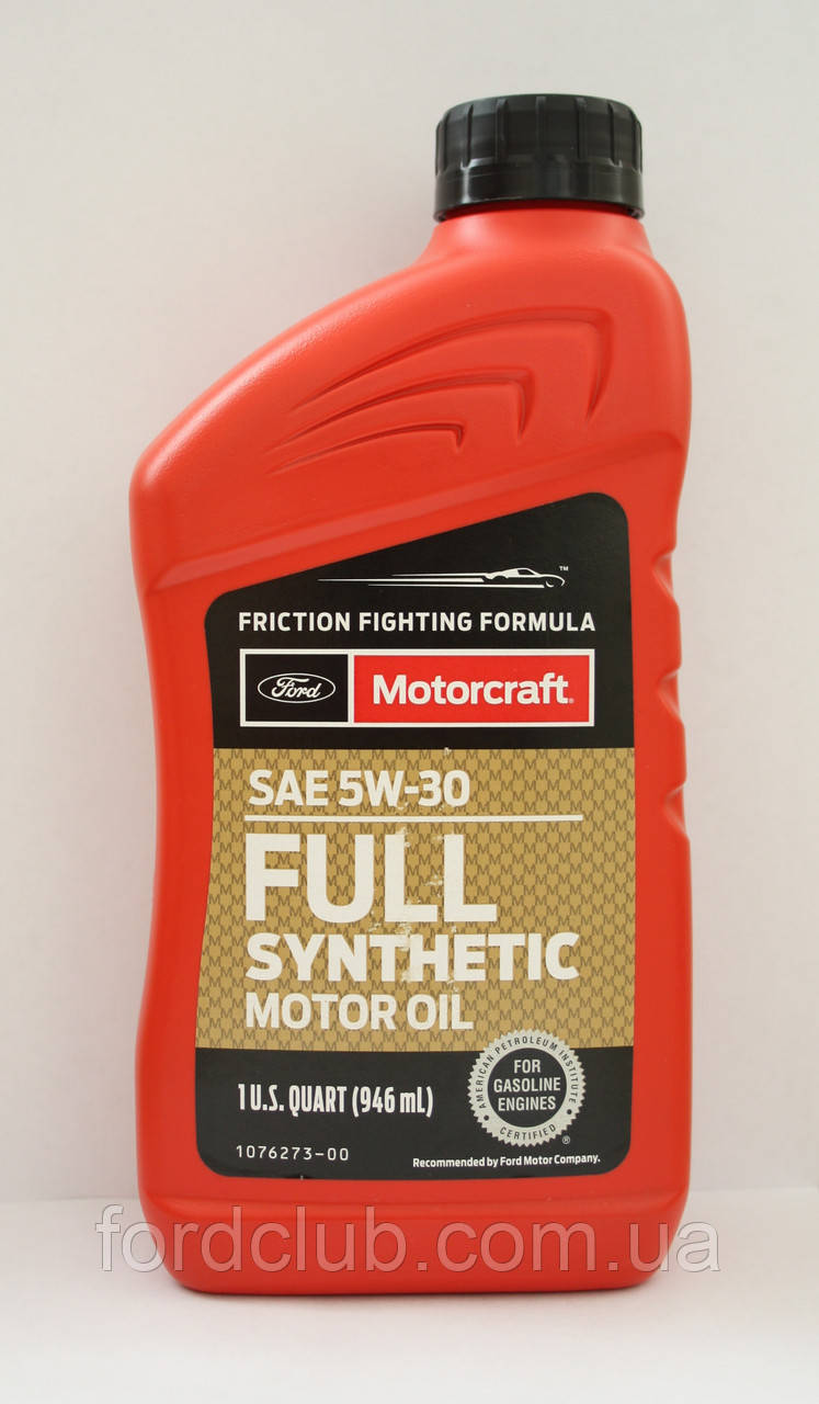 Ford Motorcraft Full Synthetic 5W-30 (для Ford Mustang 2.3)