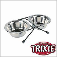 Миски на подставке  1,8л (2шт) Trixie (24833)
