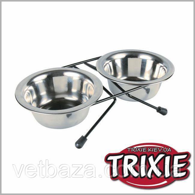 Миски на подставке  0,91л (2шт) Trixie (24832)