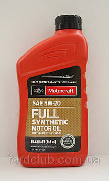 Ford Motorcraft Full Synthetic 5W-20 (для Ford Mustang 3,7; 5,0; 5,2)